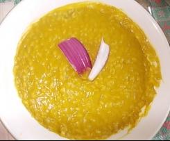 zuppa con acqua di cottura dei finocchi