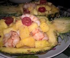 Ananas e gamberi