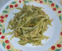 Trofiette con gamberetti e crema di zucchine