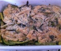 Fiammiferi di zucchine al gratin