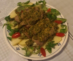 Involtini di asparagi con pesto di valeriana