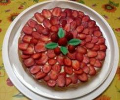 torta di fragole con crema al limone