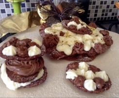 Millefoglie di cannolo scomposto su crema di ricotta al cioccolato bianco e fondente (senza colla di pesce) CONTEST DOLCI SENZA FORNO