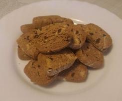 Biscotti senza glutine al cioccolato con farina di banana